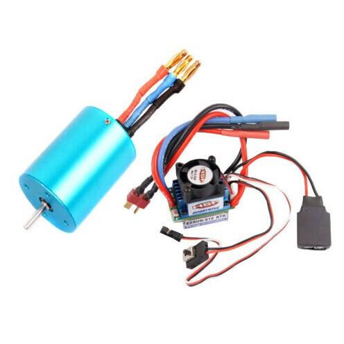 RC HSP 107051 (03302) 540 BRUSHLESS Motor 3300KV + 37017 (03307) ESC 45A 2-3S<br><br>Aliexpress