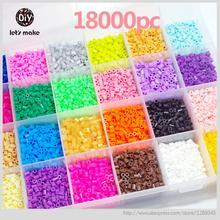 Let's make 5mm Perler Beads 28 colors 18000pcs box set(3 template+5 iron papers+2tweezers) fuse/hama beads diy toys gift(China (Mainland))