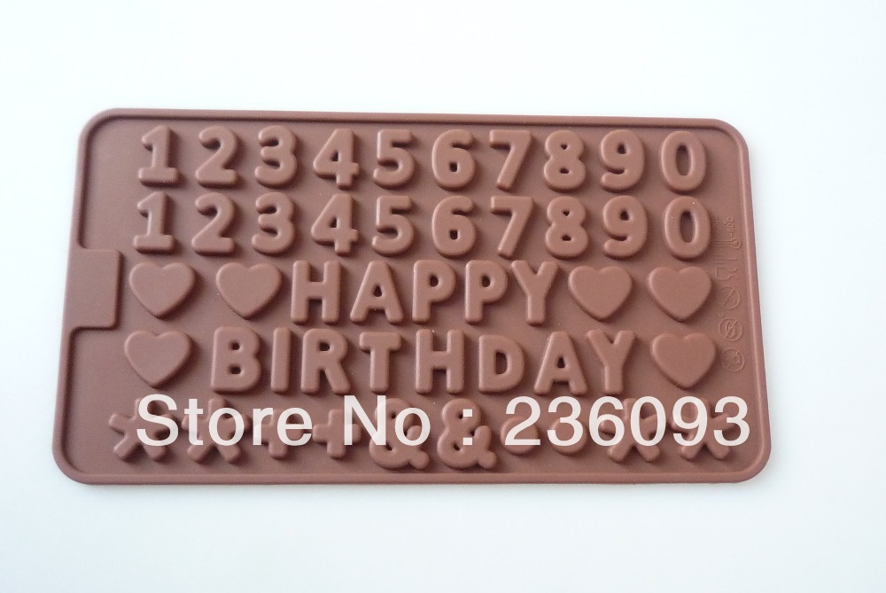 Silicone Chocolate Mold Cake Jelly Candy Ice Cube Mould Number Shape(China (Mainland))