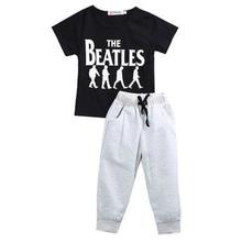 2017 Новый Дизайн Лето Хлопка Младенца Набор Мальчик Детская Одежда Наряды Джентльмен Случайные Футболка Брюки Моды Милые Детской Одежды(China (Mainland))