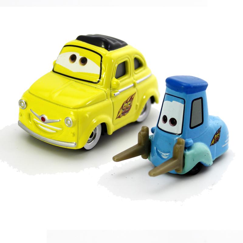 New 1:55 Pixar Cars Diecast Luigi&Guido car Metal Kid Toy Small Car Free Shipping Loose(China (Mainland))