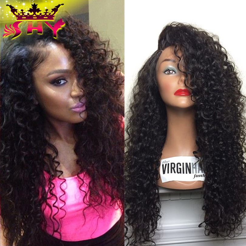Brazilian Virgin Full Lace Human Hair Wigs Glueless Kinky Curly Full Lace Front Wig For Black Women Promotion Freeshipping(China (Mainland))