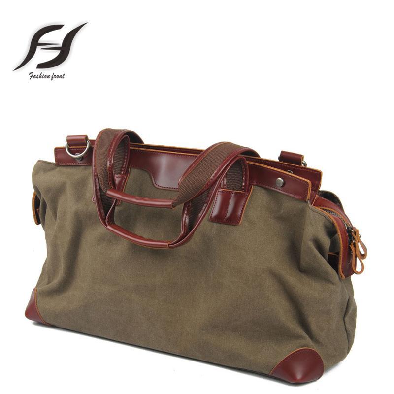 100% canvas unisex canvas messenger Bags wear-resisting men crossbody bag big-capacity handbag 3 Vintage colour unisex handbag