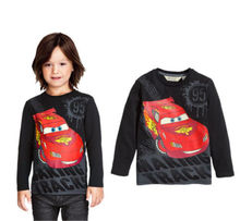 Cartoon Cars Kids Children Clothes Boys Long sleeve Tops T-Shirt Hoodie 2~7Years