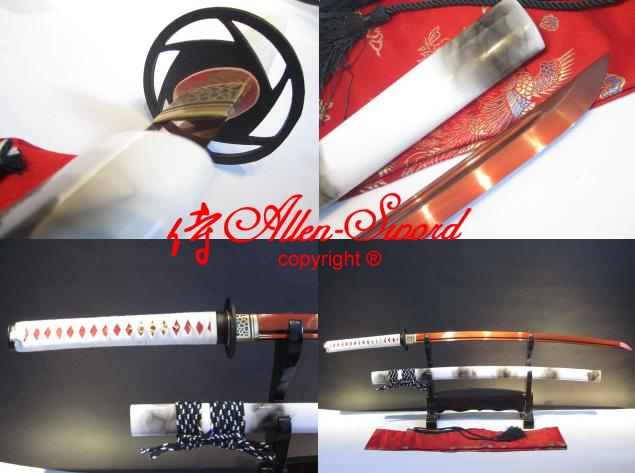 handforged 9260 spring steel blade japanese katana red sharpened full tang - We can to world allen-sword store