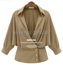 Hot selling 2015 Spring Women Sexy Chiffon Blouse o-neck women Shirt big size women shirt(China (Mainland))