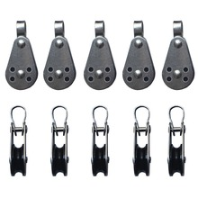 10 x 25mm Stainless Steel Pulley Block for Kayak Canoe With Fixed Pin(China (Mainland))