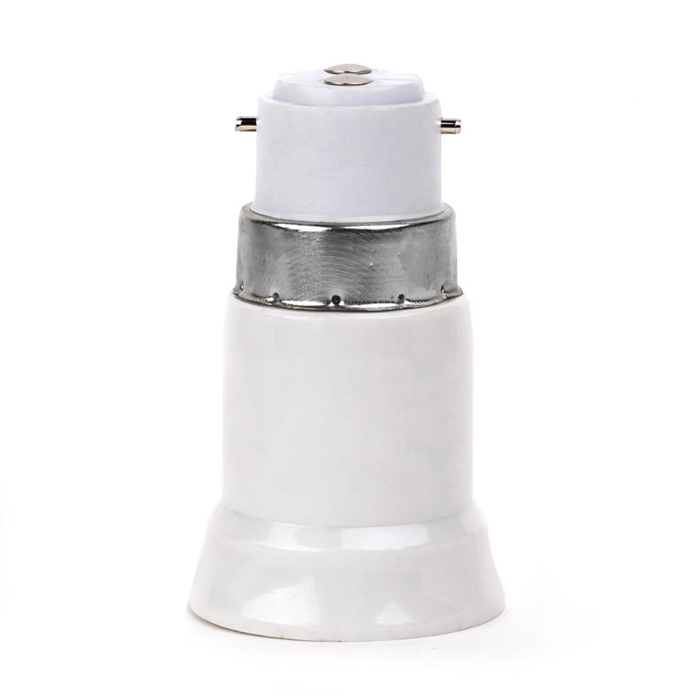 10pcs Adapter Converter B22 To E27 BaseBayonet Base light Bulb Holder LED Halogen CFL Light Base Bulb Adapter Converter Socket(China (Mainland))