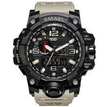 Relógio militar masculino, relógio a prova d'água 50m, relógio quartzo de LED, relógio esportivo masculino, relogios masculinos, 1545 relógio esportivo masculino S Shock(China)