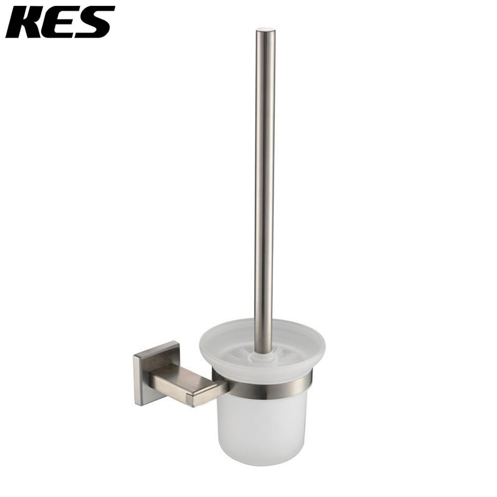 buy kes toilet brush with holder set wall mount sus304 stainless steel holder. Black Bedroom Furniture Sets. Home Design Ideas