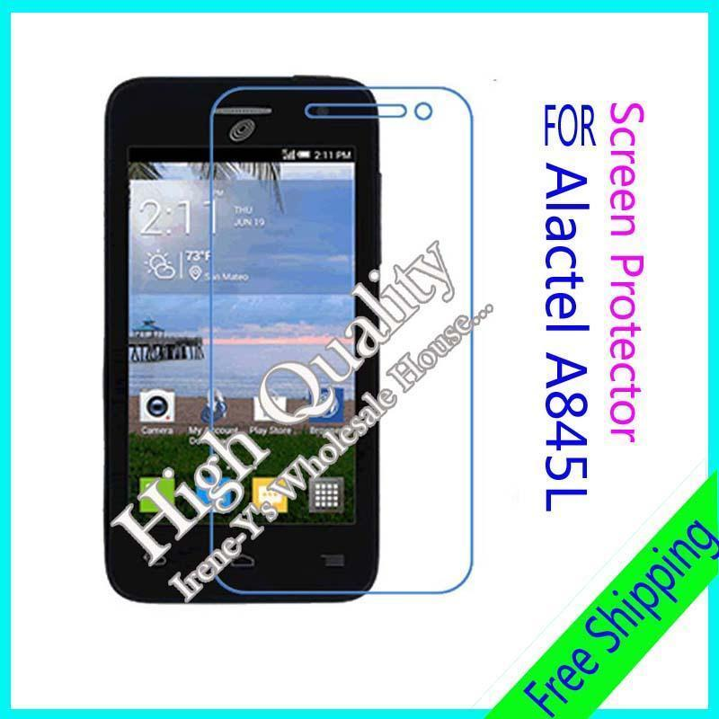3 X high clear glossy phone screen protect film For Alcatel A845L OneTouch Fierce 2 3PCS/lot Without tracking number(China (Mainland))