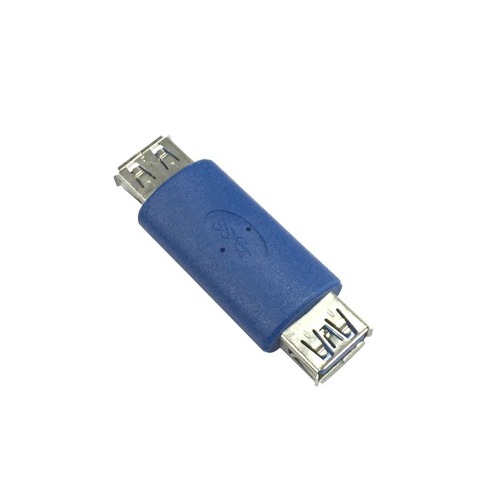 USB 3.0 Type A Female to A Female Connector Adapter USB3.0 AF to AF Coupler F/F Gender Changer Extender Converter for Laptop(China (Mainland))