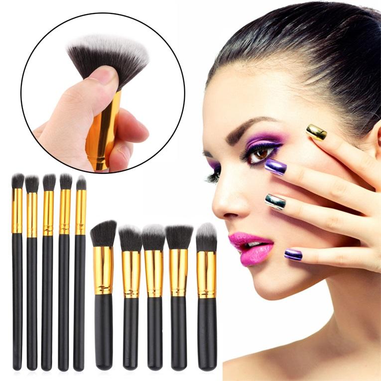 Гаджет  10pcs Professional Cosmetic Makeup Brushes Set Foundation Brush Eyeshadow brush None Красота и здоровье