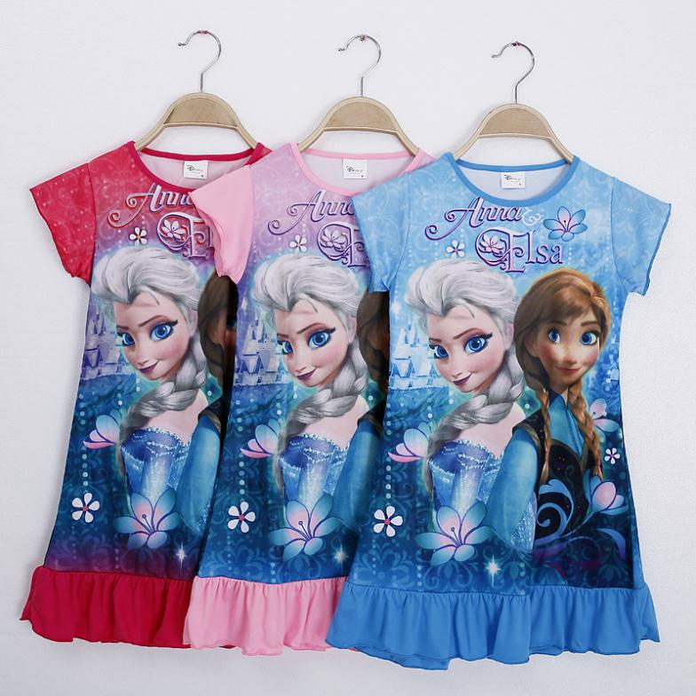 2015 Rushed Limited One Pcs!new Summer Girls Dress Children Clothing Cartoon Kids Child Baby Dresses Clothes D0606#(China (Mainland))