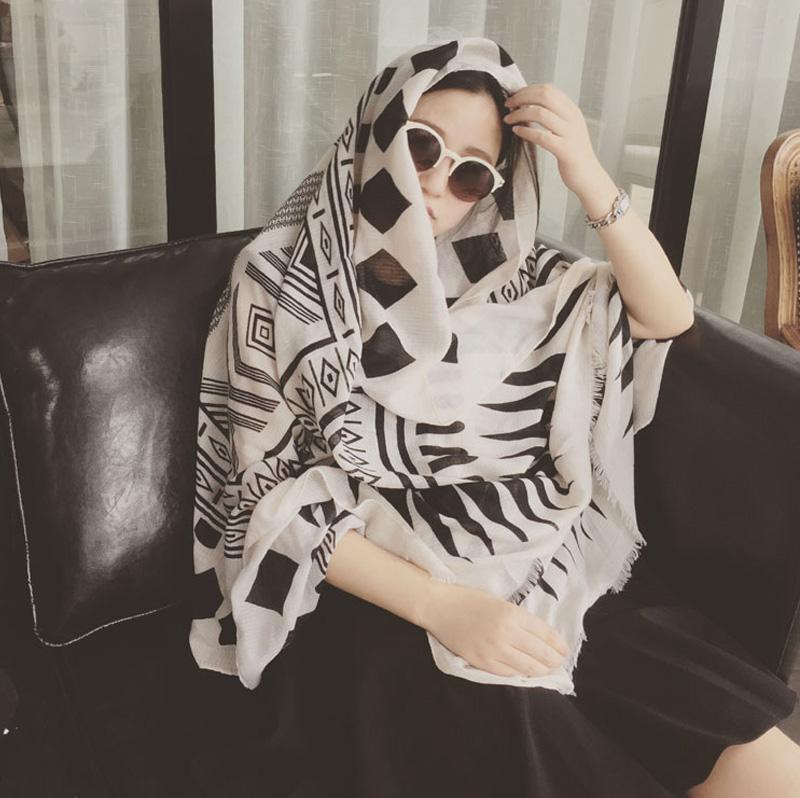 Diamond Lattice Women Shawls and Scarves Pashmina Cape Z-2323()
