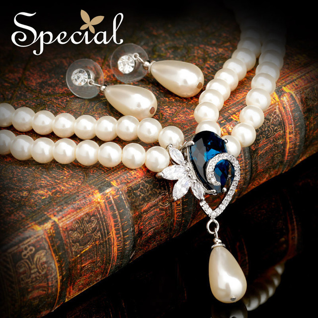 Special Jewelry Sets Necklaces & Stud Earrings Handmade Ceramic Beads Fashion Design AAA Zircon Pearl Jewelry for Women TZ141101