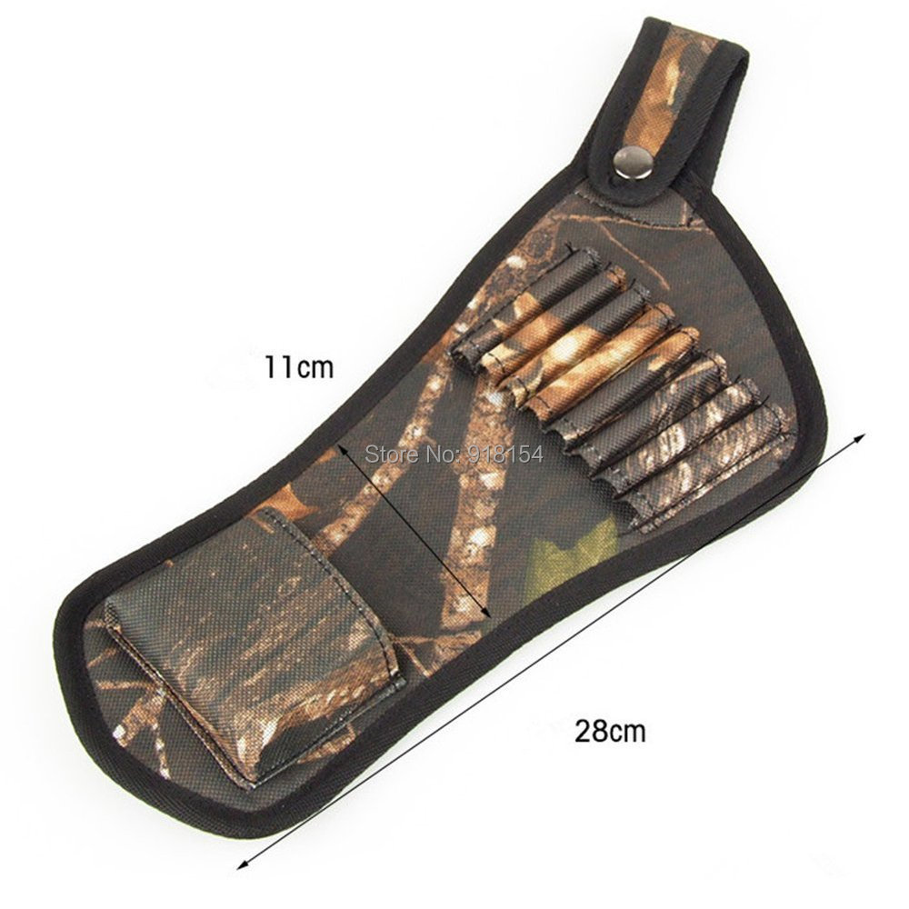 OneTigris Camouflage Hunting Archery Bow 8 Arrows Quivers Holder Belt Tubes Strap Belt Arrow Quiver Hunting