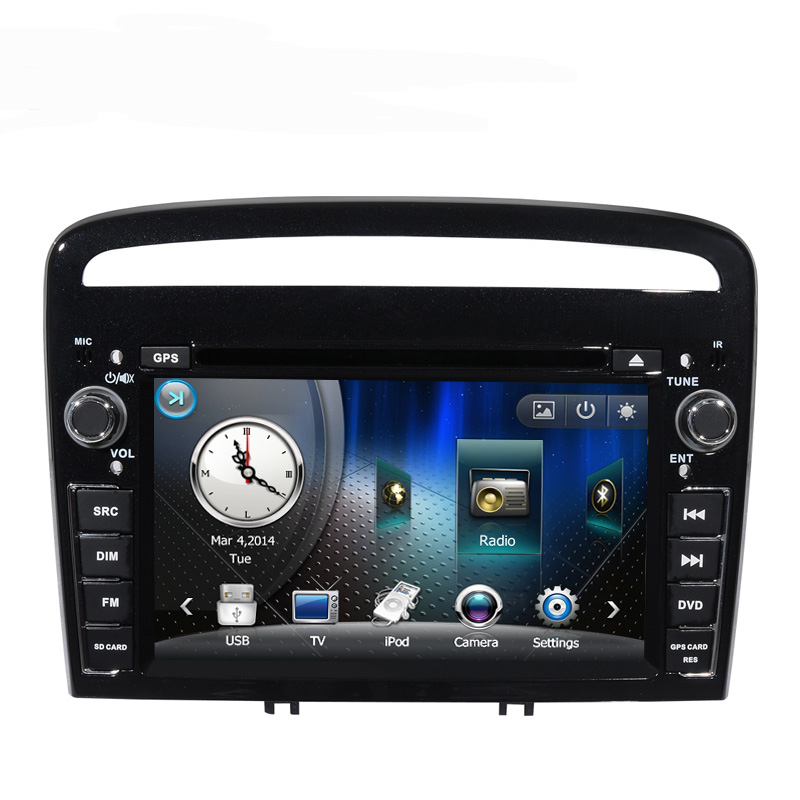 Free Shipping Discount New 7 inch Car DVD GPS Player with iPod GPS Bluetooth Radio Canbus for Peugeot 408 2013 RDS free 8G map(China (Mainland))