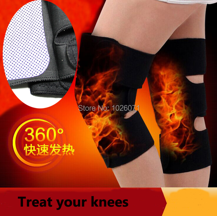 1Pair Tourmaline self heating kneepad Magnetic Therapy knee support tourmaline heating Belt knee Massager Hot selling(China (Mainland))