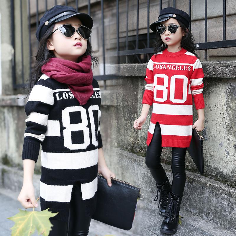 Toddler Girl Sweater 4 5 6 7 8 9 10 11 12 13 Years Autumn Winter Kids Sweaters Letter Children's Designer Child Girls Cardigan T(China (Mainland))