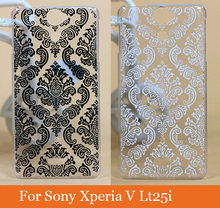 Buy Fashion painted colored Case Sony Xperia V Lt25i painting Vintage white Black Paisley Flower Hard Case Sony Lt25i for $1.50 in AliExpress store