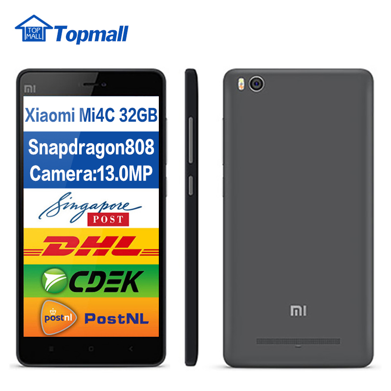 Original Xiaomi Mi4c 32GB ROM FDD LTE 4G phone Snapdragon808 Hexa Core 5.0 inch 1920X1080P 3080mAh google play(China (Mainland))