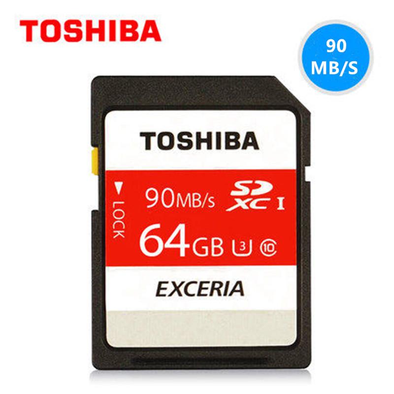 TOSHIBA 32GB 64GB 128GB SD Card SDHC SDXC Memory Card Class10 UHS-1 U3 90M/S Micro SD card For Digital Camera Camcorder Recorder(China (Mainland))