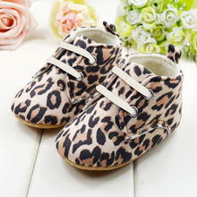 Cute Newborn Baby Shoes Girl Infant Toddler Leopard Crib Shoes First Walkers Fit 0 1 Y