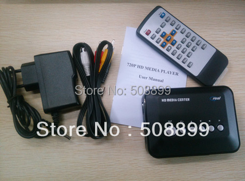 HDD TV Player Full HD Media Player RM/RMVB/AVI/MPEG with USB and SD/MMC Port 720P Media Player(China (Mainland))