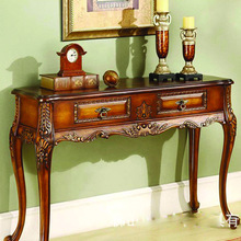 European Antique Console Table neoclassical foyer Console Table of solid wood furniture off the entrance station hotel(China (Mainland))