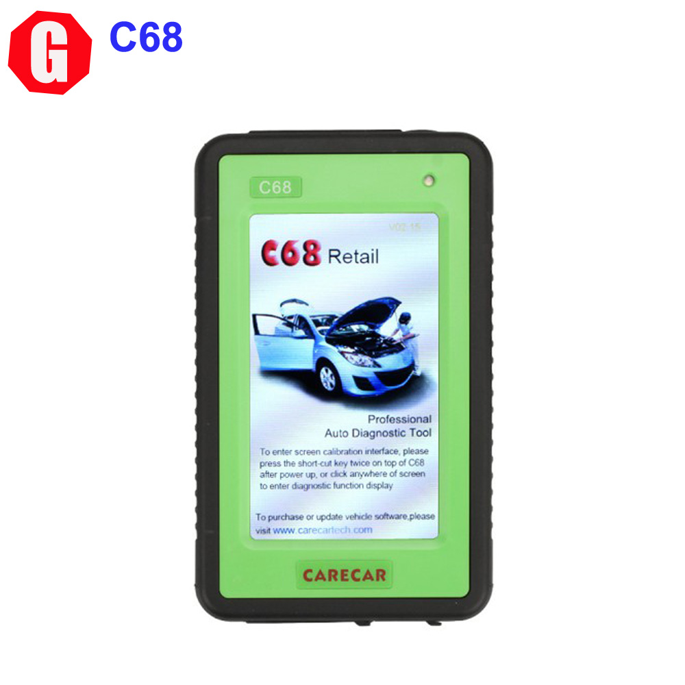 DHL Free! Original CareCar C68 Retail DIY Professional Auto Diagnostic Tool Support Multi-languages Free Update(China (Mainland))