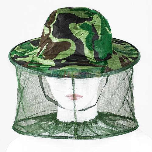 Mosquito Bug Insect Bee Resistance Sun Net Mesh Head Face Protector Hat Cap for Men Women 1MZN(China (Mainland))
