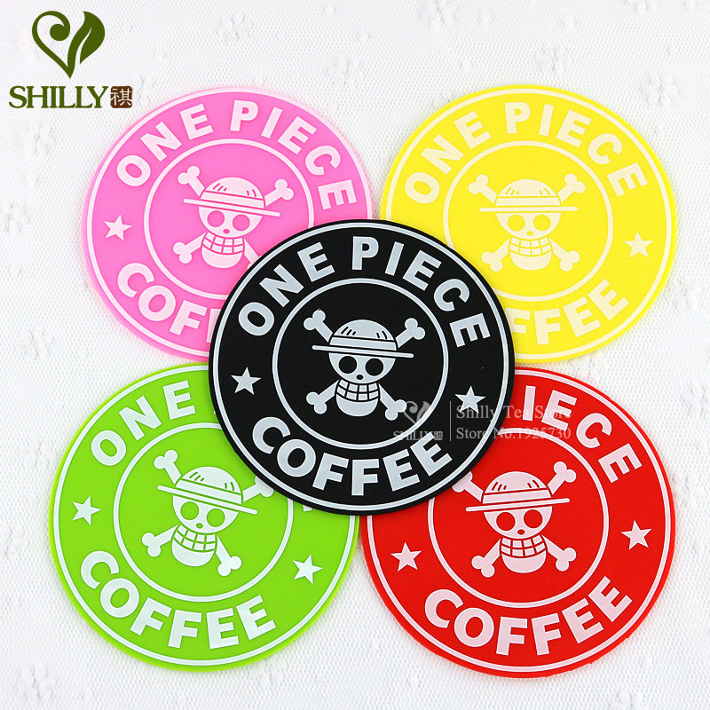 Silicone Circular One Piece Skull Coaster mats pads Smile Happy Anti-Heat SkidProof Cup Coaster Dishes Bowls mats & pads(China (Mainland))