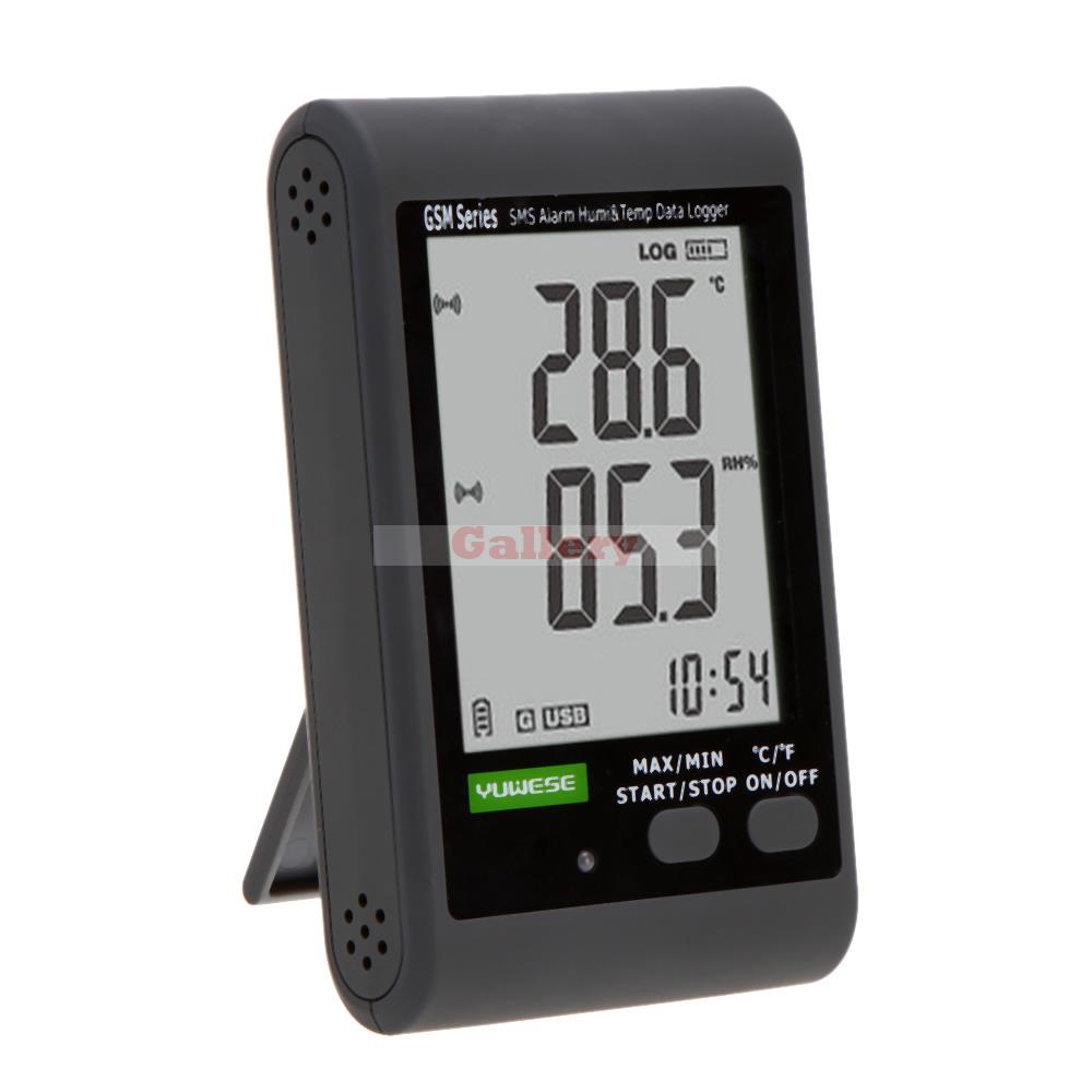 GSM LCD Digital Temperature Meter Humidity Meter Data Recording Logger Thermometer Hygrometer SMS Alarm PC Connecting Termometro<br><br>Aliexpress