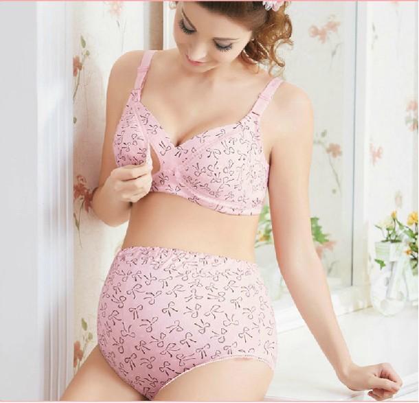 Plus Size Maternity Bra panties set 100% cotton maternity ...