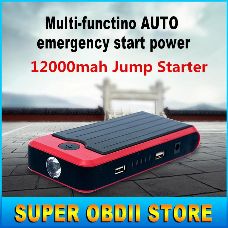 Latest Hot Sale 12000mah Car Jump Starter Power Bank Emergency Auto Battery Power Chargers Vehicle Jump Starter 12000mah Battery(China (Mainland))
