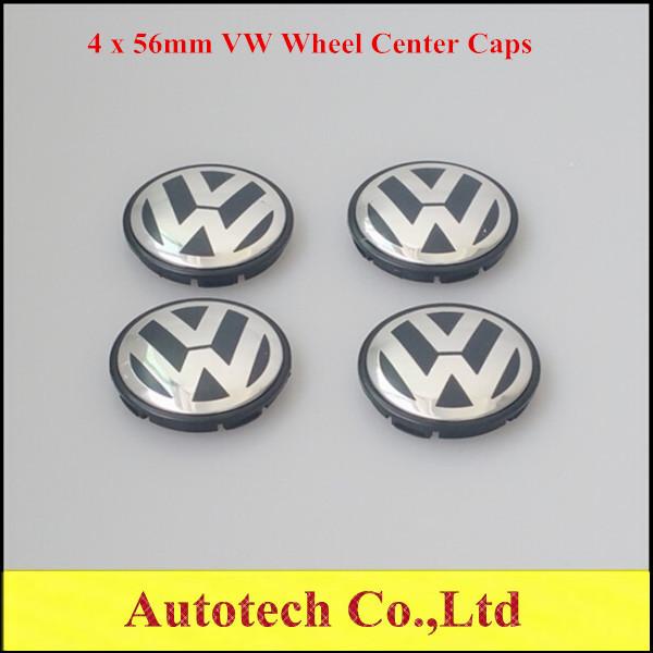 Set of 4 56mm VW Volkswagen BEETLE GOLF TDI Wheel Center Cap Hub Cap 56mm VW Caps 1J0601171(China (Mainland))