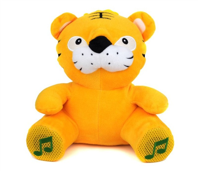 Cute Cartoon Electronic Pets tiger Plush Toy Speaker FM Radio Mini Speaker for Mobile Phone PC Laptop U Disk SD  Card