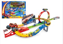 Catapult Blaze Monster Machines Kids Tire Parking Toys Racing Car Classical Toy Figures Transformation truck Gifts for Kids