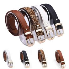 New 2016 Fashion Women Belt Brand Designer Hot Ladies Faux Leather Metal Buckle Straps Girls Fashion Accessories(China (Mainland))