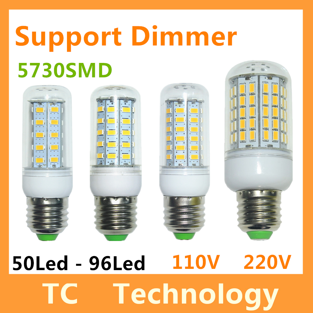 Support Dimming SMD 5730 Lampada LED Lamp E14 110V Bombillas LED Bulb E27 220V GU10 Lamparas Lampadas LED Light Bulb G9 Luz B22(China (Mainland))
