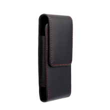 Red border Top grade Universal Holster Skin Waist hanging Belt Clip Leather Pouch Cover Case For Apple iphone 6 4.7inch Iphone6