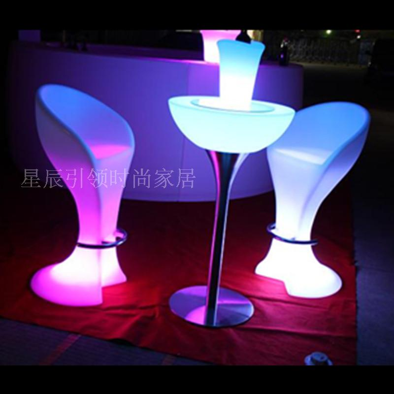 LED light bar chairs tables cocktail table Buffay remote changing colorful restaurant hotel furniture(China (Mainland))
