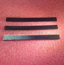 50pcs 2.54 1X40 pin breakaway Straight female header 40 pins Single Row 2.54 mm Pitch Straight Needle Female Pin Header(China (Mainland))