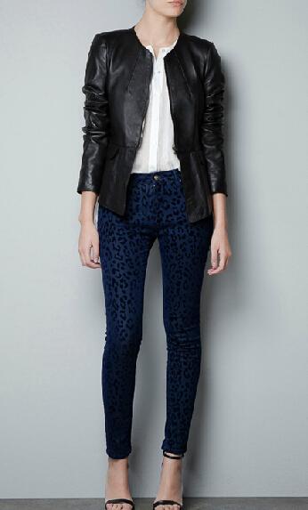 Collarless leather jacket ladies – Novelties of modern fashion ...