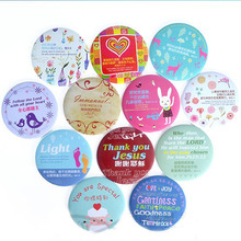 Gospel small mirror - gentle and quiet spirit | 12 models | Christian Gifts | camp | out good helper(China (Mainland))