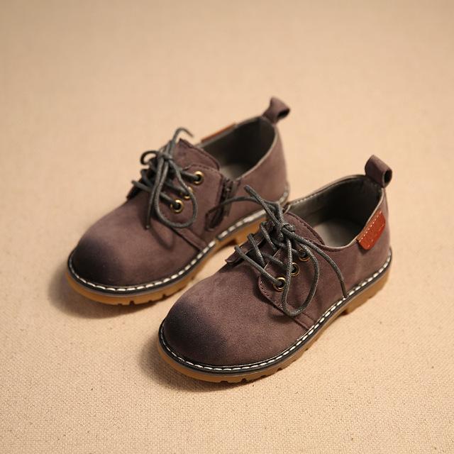 2016 весенние дети свободного покроя ребенка кожа спортивная обувь ретро стиль по ...