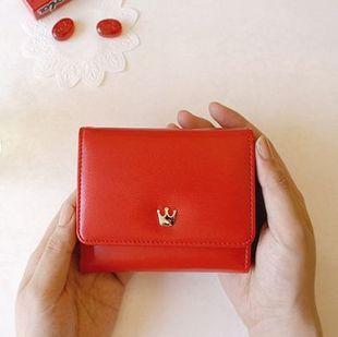 Прибыть корона женщины кошельки корейский хит цвет дамы ключ держатель женщины портмоне ...