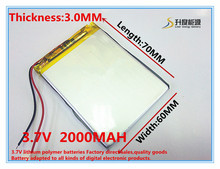 Buy 3.7V 2000mAh Lithium Polymer LiPo Rechargeable Battery cells power PAD GPS PSP Vedio Game E-Book Tablet PC Power Bank 306070 for $5.75 in AliExpress store