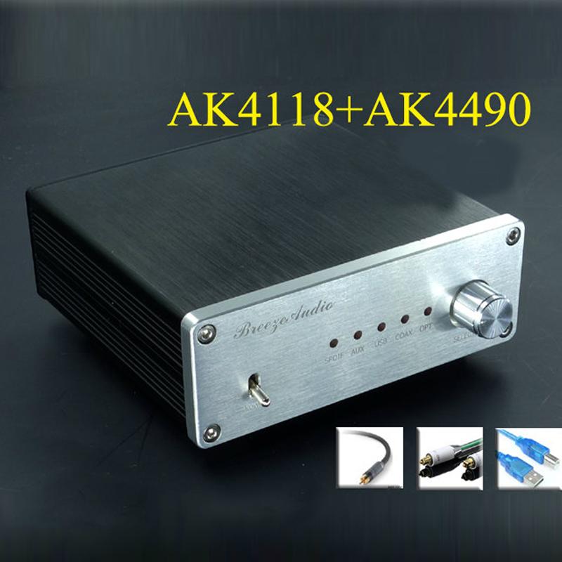 2016 Finished AK4490+AK4118+XMOS USB DAC Asynchronous Hifi Audio Digital Decoder Support Coaxial Optical USB 384K 32BIT input(China (Mainland))